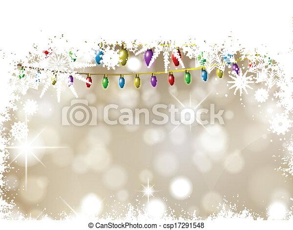 Christmas lights background - csp17291548