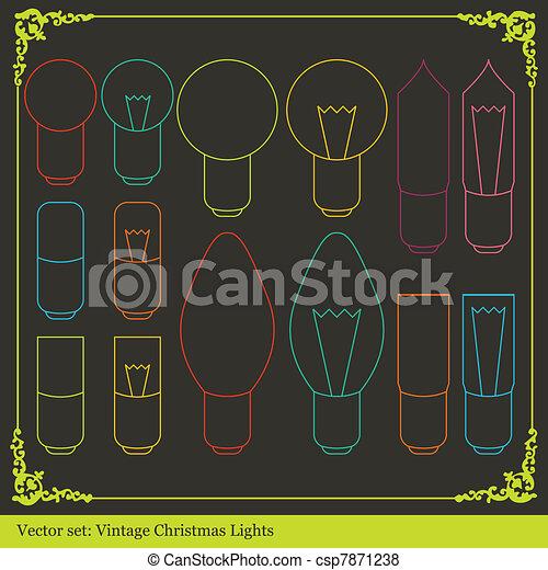 Christmas lights background - csp7871238