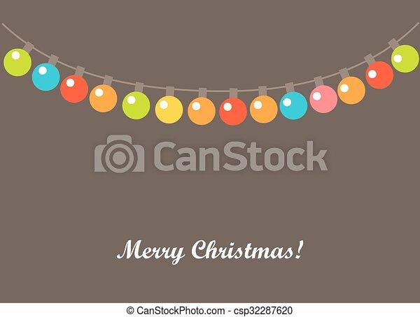 Christmas lights background - csp32287620