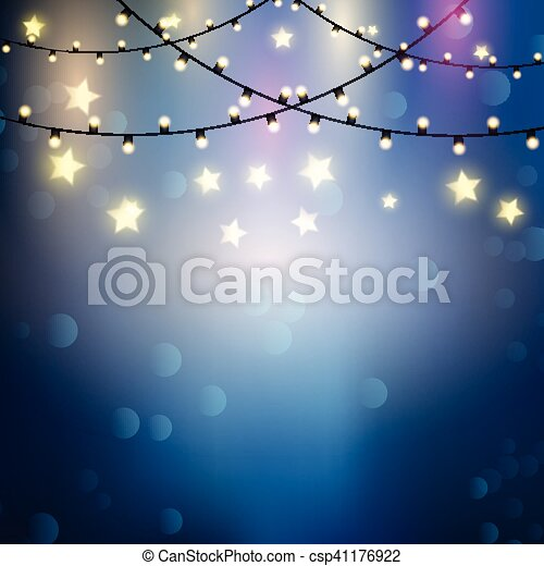 Christmas Lights Background With Hanging