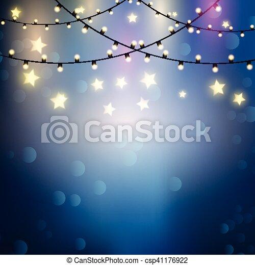 Christmas lights background - csp41176922