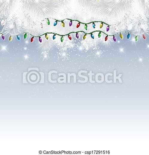 Christmas lights background - csp17291516