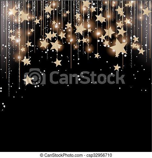 Christmas lights Background - csp32956710