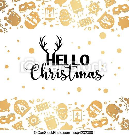 Christmas lights background. - csp42323001