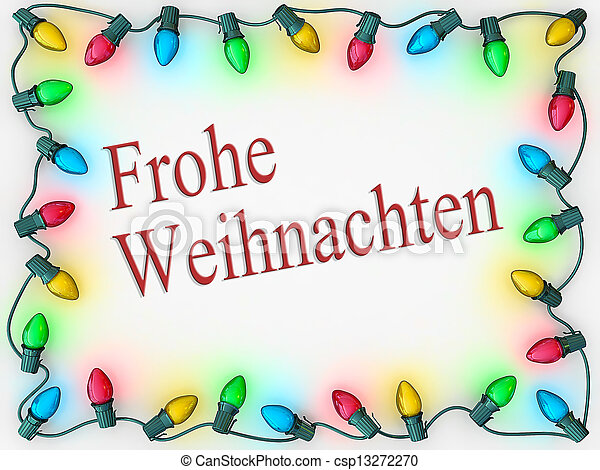 How Do You Say Merry Christmas In German.Christmas Lights Border Merry Christmas German Language