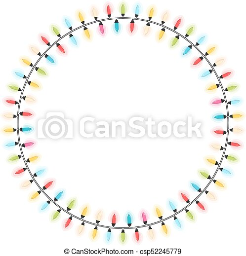 Christmas Lights Vector Free.Christmas Lights Circle