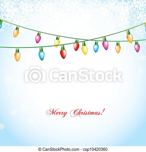christmas lights - csp10420360