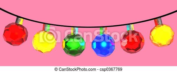Christmas lights - csp0367769