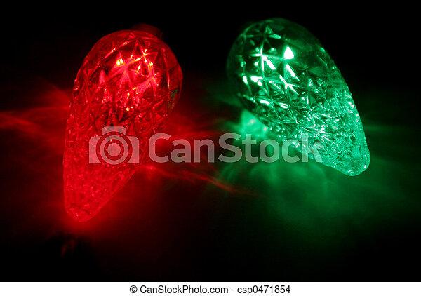 Christmas lights upc red and green led christmas lights