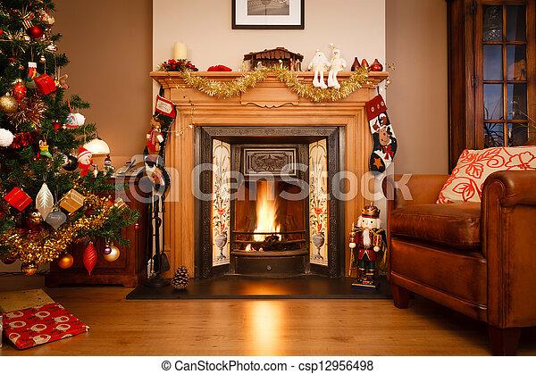 Christmas living room - csp12956498