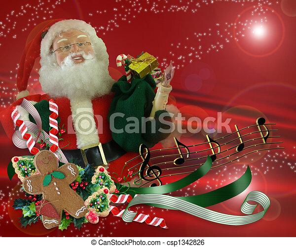 Christmas magic santa background image and illustration composition christmas magic santa background csp1342826 m4hsunfo