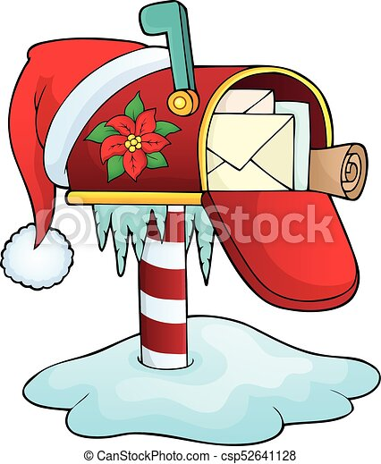 christmas mailbox theme image 1 eps10 vector illustration vector rh canstockphoto com