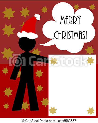 Christmas man - csp6583857