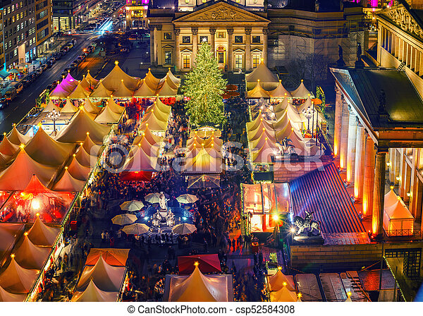 Christmas market in Berlin - csp52584308