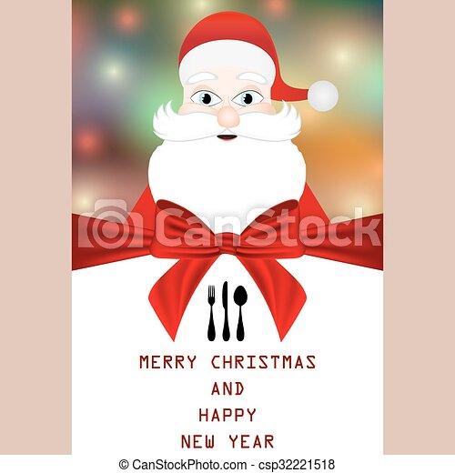 Christmas menu - csp32221518