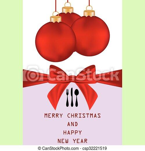 Christmas menu - csp32221519