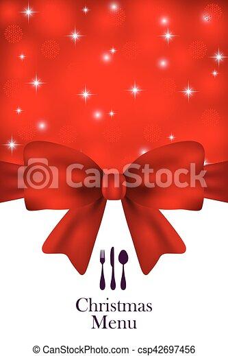 Christmas menu vector - csp42697456