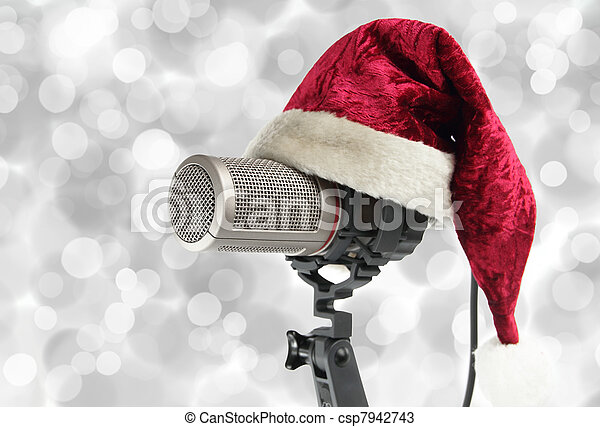 Christmas microphone - csp7942743