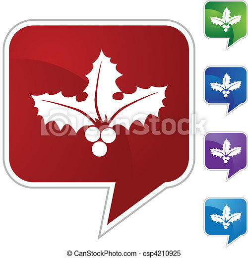 Christmas Mistletoe - csp4210925