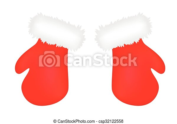 christmas mittens cartoon gloves design icon symbol winter vector illustration isolated on white background - Christmas Mittens
