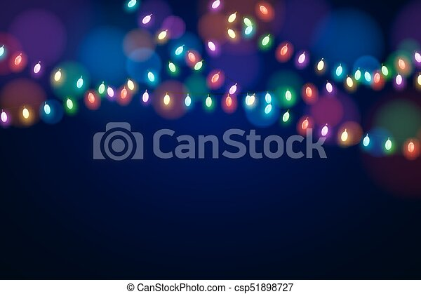 christmas multicolored lights on a dark background celebratory