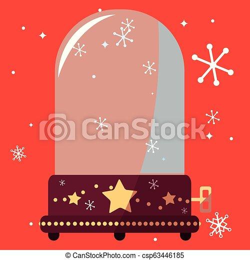Christmas Music Background.Christmas Music Box Design