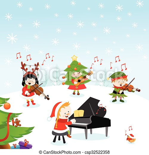 Christmas Music - csp32522358