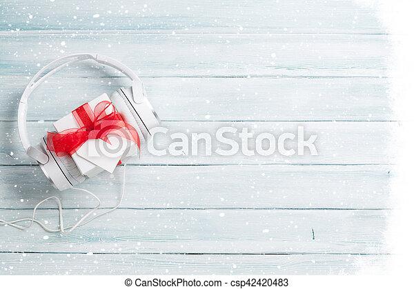 Christmas music gift concept - csp42420483