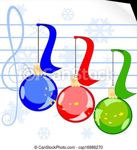 Christmas music - csp16986270