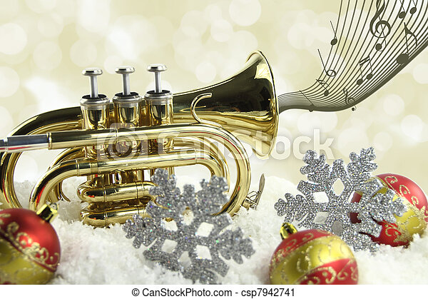 Christmas music - csp7942741