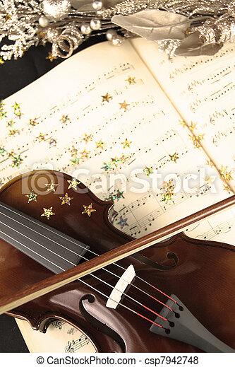 Christmas music - csp7942748