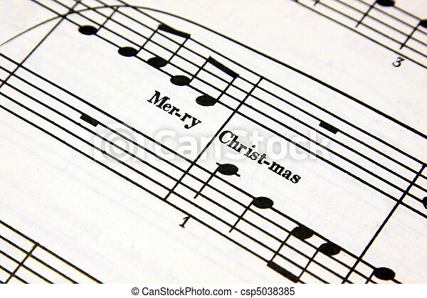 Christmas Music - csp5038385