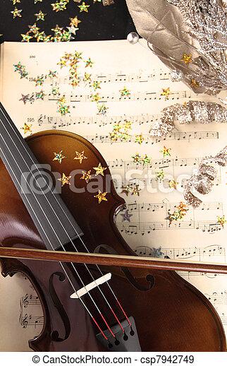 Christmas music - csp7942749