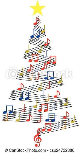 CHRISTMAS MUSIC TREE - csp24722386