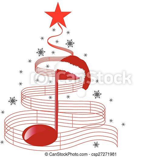 CHRISTMAS MUSIC TREE - csp27271981