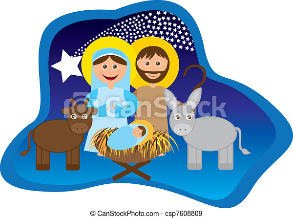 Christmas nativity  - csp7608809