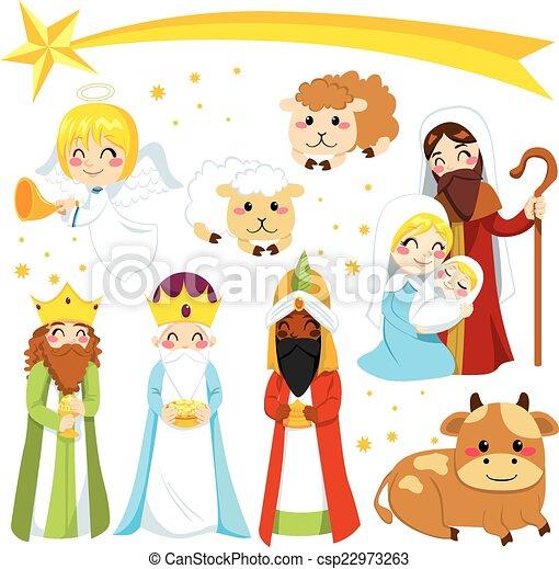 Christmas Nativity Elements - csp22973263