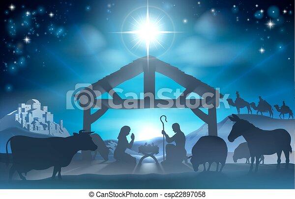 Christmas Nativity Scene - csp22897058