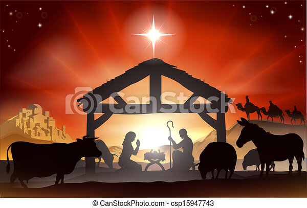 Christmas Nativity Scene - csp15947743