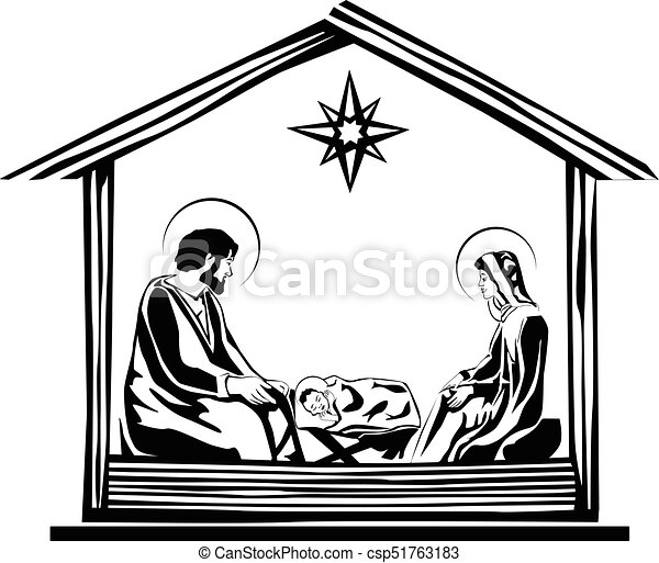 christmas nativity scene vector eps 10 vector search clip art rh canstockphoto com free nativity scene images clip art nativity scene vector clip art free