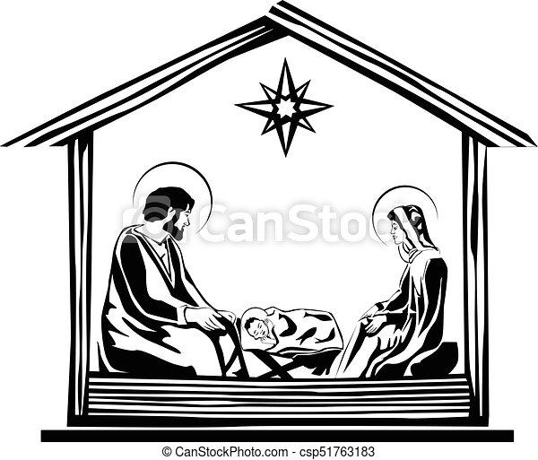 christmas nativity scene vector eps 10 vector search clip art rh canstockphoto com nativity scene clipart free nativity scene clipart free