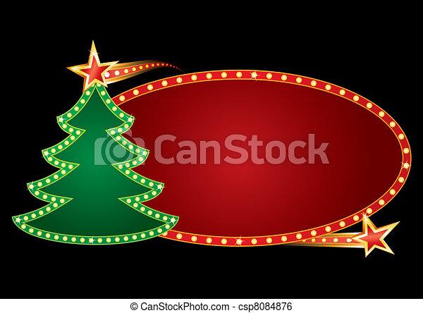 Christmas neon - csp8084876