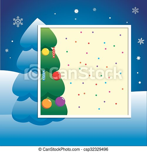 christmas new year party invitation card poster template vector illustration