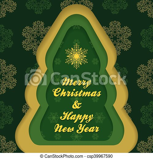 christmas new year postcard template csp39967590