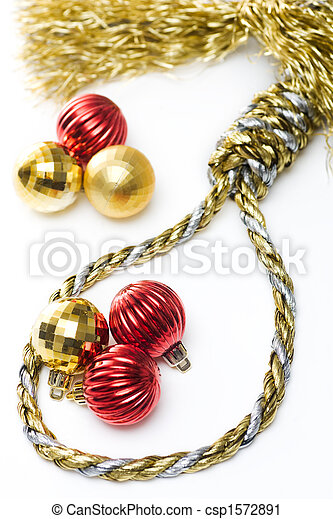 new product 1973d ba989 Christmas Noose with red baubles isolated on white