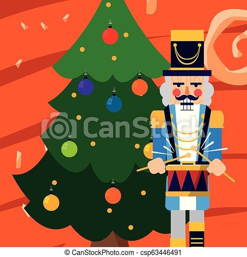 Nutcracker Christmas Tree Clipart.Christmas Nutcracker Design