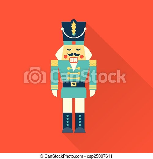 Vector Simple Icon Of A Christmas Nutcracker Vector Clip