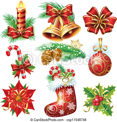 Christmas objects - csp11548748