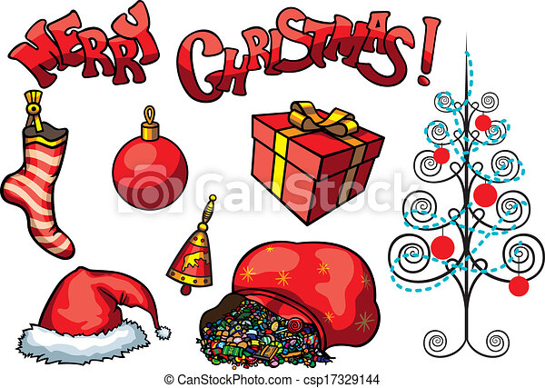 Christmas objects set - csp17329144