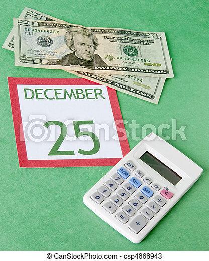 Christmas on a Budget - csp4868943
